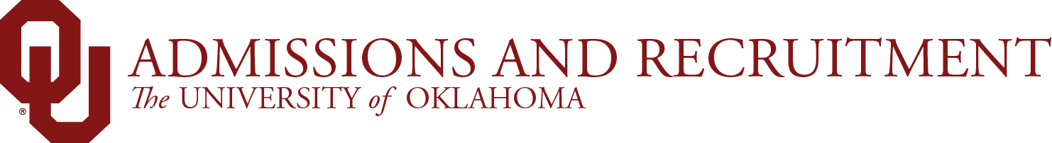 Admissions and Recruitment, The University of Oklahoma website wordmark