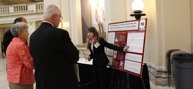 Carl Albert Center Undergraduate Research Fellow Presenting at the State Capitol