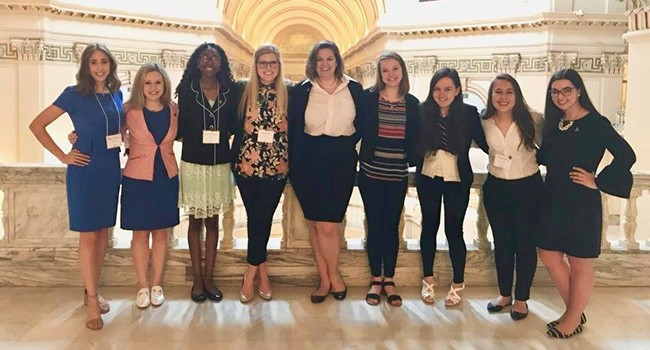 NEW Leadership 2018 students at the State Capitol