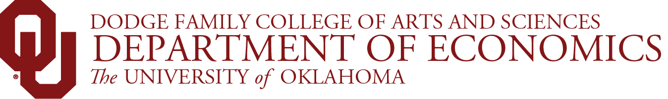 College of Arts and Sciences, Department of Economics, The University of Oklahoma website wordmark