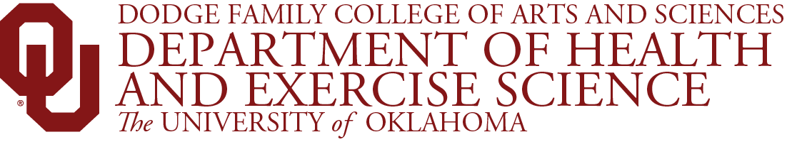 College of Arts and Sciences, Department of Health and Exercise Science, The University of Oklahoma website wordmark