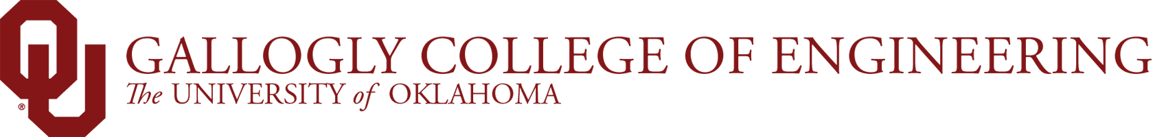 Gallogly College of Engineering, The University of Oklahoma website wordmark