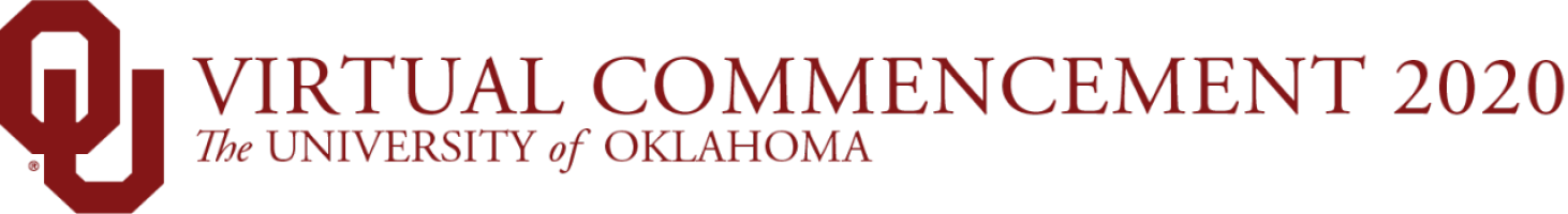 OU Virtual Commencement 2020, The University of Oklahoma website wordmark