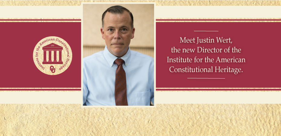 Meet Justin Wert, the new director of the Institute of the American Constitutional Heritage.  IACH logo.