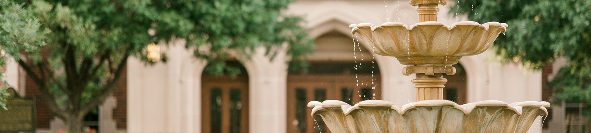 Fountain Outside of Wagner Hall