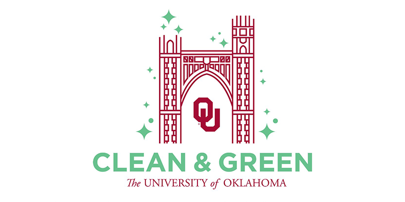 Clean & Green University of Oklahoma logo
