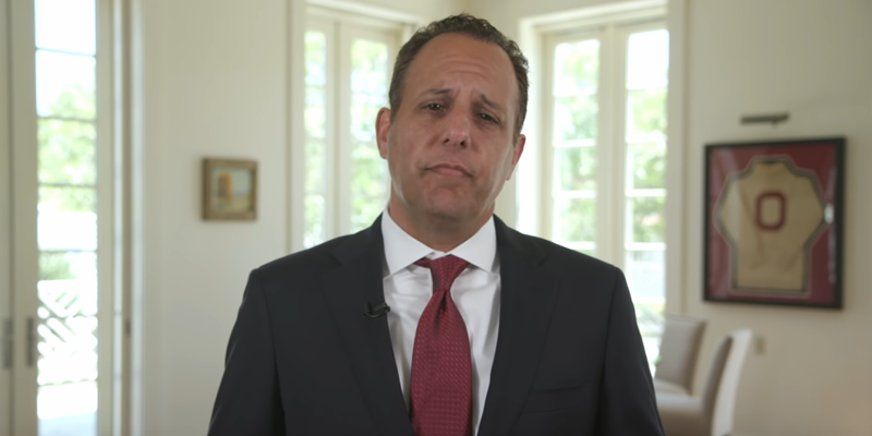 Still from video featuring President Harroz