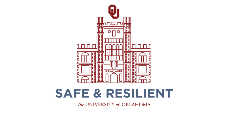 Safe & Resilient University of Oklahoma logo