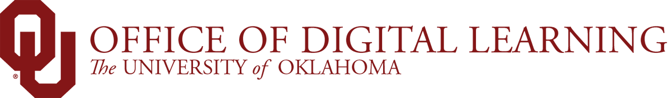 Office of Digital Learning, The University of Oklahoma website wordmark