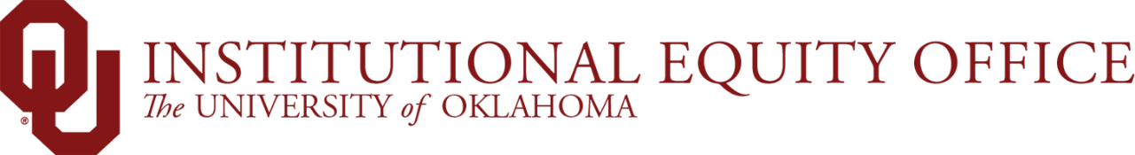 Institutional Equity Office, The University of Oklahoma website wordmark