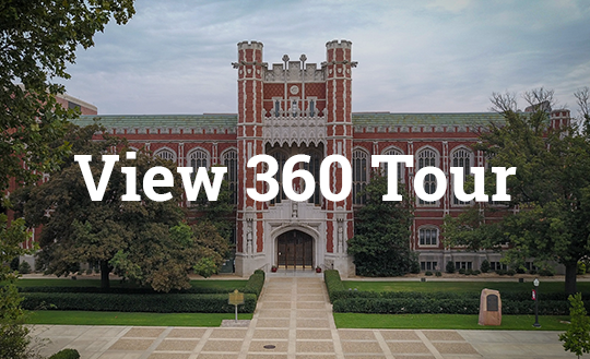"image of Evans hall with text 'View 360 Tour"" superimposed"