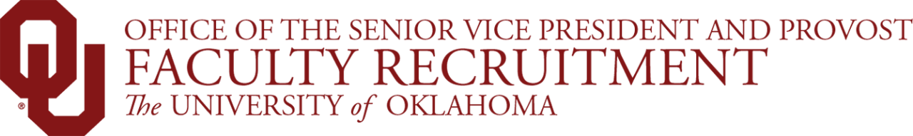 Office of the Senior Vice President and Provost, Faculty Recruitment, The University of Oklahoma website wordmark
