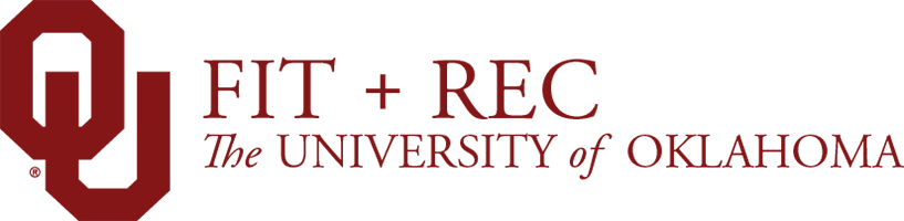 OU Fit and Rec, The University of Oklahoma website wordmark
