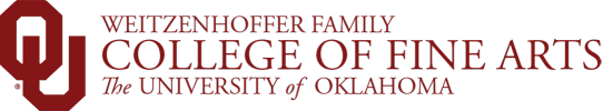 Weitzenhoffer Family College of Fine Arts, The University of Oklahoma website wordmark