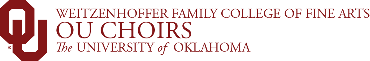 Weitzenhoffer Family College of Fine Arts, OU Choirs,The University of Oklahoma website wordmark