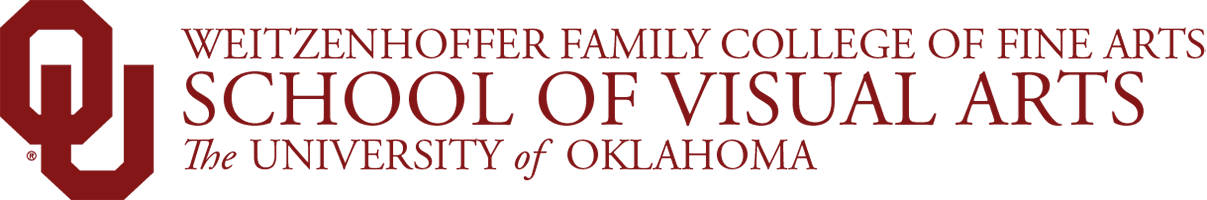 Weitzenhoffer Family College of Fine Arts, School of Visual Arts,The University of Oklahoma website wordmark