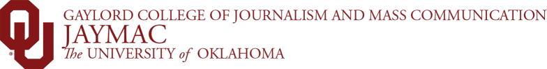 Gaylord College of Journalism and Mass Communication, JayMac, The University of Oklahoma website wordmark