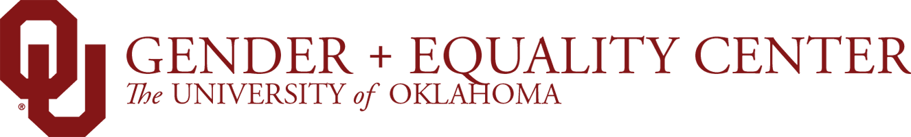 Gender and Equality Center, The University of Oklahoma website wordmark