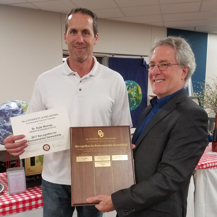 Dr. Kyle Murray Honored with Environmental Stewardship Award