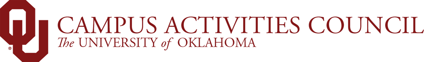 Campus Activities Council, The University of Oklahoma website wordmark