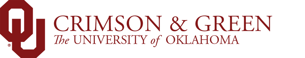 Crimson and Green, The University of Oklahoma website wordmark