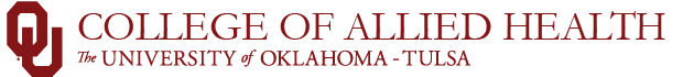 college of allied health ou-tulsa campus website wordmark
