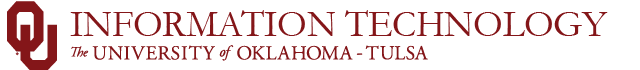 information technology ou-tulsa website wordmark