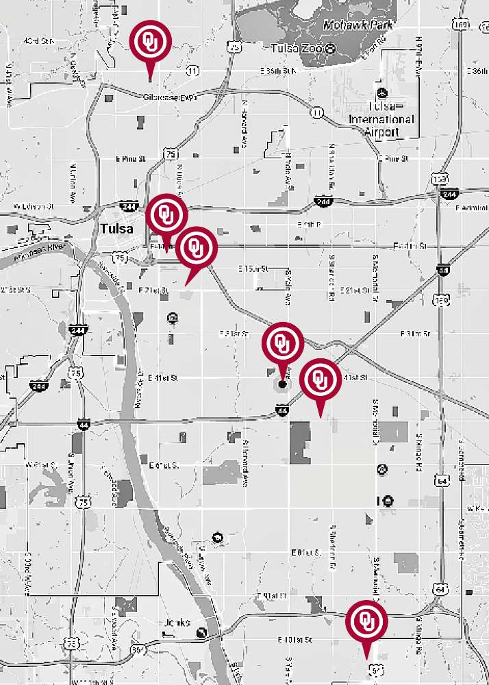 OU Physicians Map