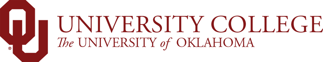 University College, The University of Oklahoma website wordmark
