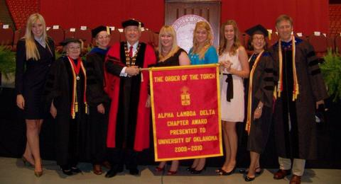 OU chapter of Alpha Lambda Delta, 2010 Order of the Torch presentation  at New Sooner Convocation