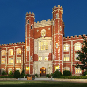 Evans Hall on the North Oval of the OU Norman Campus