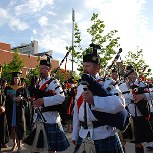 Bagpipers at Commencement Ceremony