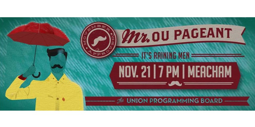 Mr. OU Pageant poster