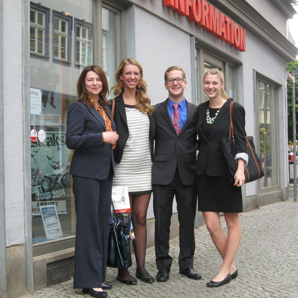 PR students in Efurt, Germany