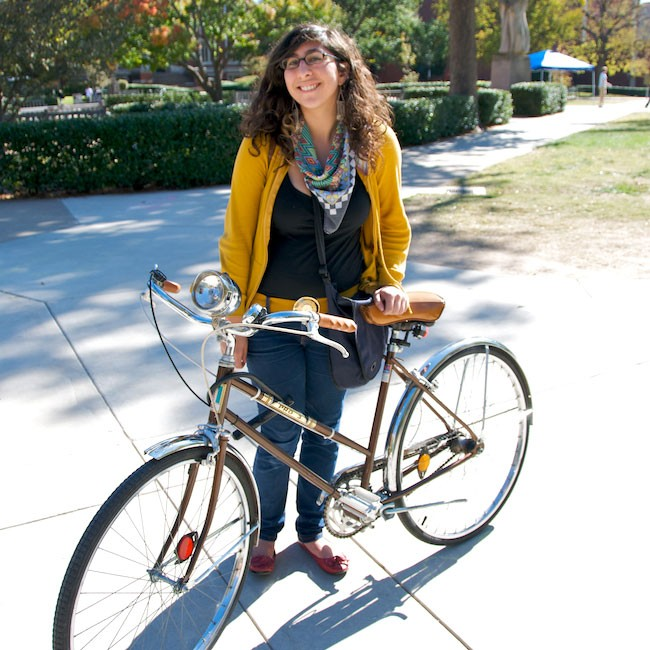 OU student with bike